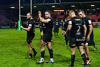 The Bath Rugby team acknowledges the travelling support after the match. Heineken Champions Cup match, between Stade Toulousain and Bath Rugby on January 20, 2019 at the Stade Ernest Wallon in Toulouse, France. Photo by: Patrick Khachfe / Onside Images