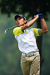 Chuanlin Jian of China tees off during the 2011 Faldo Series Asia Grand Final on the Faldo Course at Mission Hills Golf Club in Shenzhen, China. Photo by Victor Fraile / Faldo Series