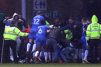Gillingham fans and players celebrate their stoppage time goal scored by Max Ehmer during Gillingham vs Peterborough United, Sky Bet EFL League 1 Football at the MEMS Priestfield Stadium on 10th February 2018