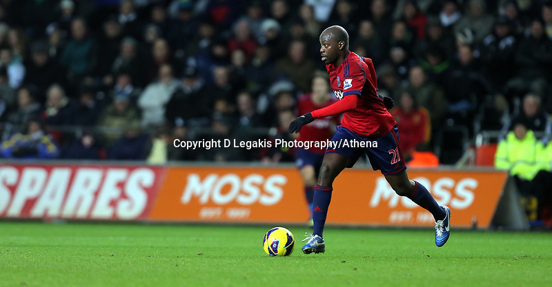 Sunday, 28 November 2012<br /> Pictured: Youssouf Mulumbu.<br /> Re: Barclays Premier League, Swansea City FC v West Bromwich Albion at the Liberty Stadium, south Wales.