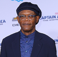 "HOLLYWOOD, LOS ANGELES, CA, USA - MARCH 13: Samuel L. Jackson at the World Premiere Of Marvel's ""Captain America: The Winter Soldier"" held at the El Capitan Theatre on March 13, 2014 in Hollywood, Los Angeles, California, United States. (Photo by Xavier Collin/Celebrity Monitor)"