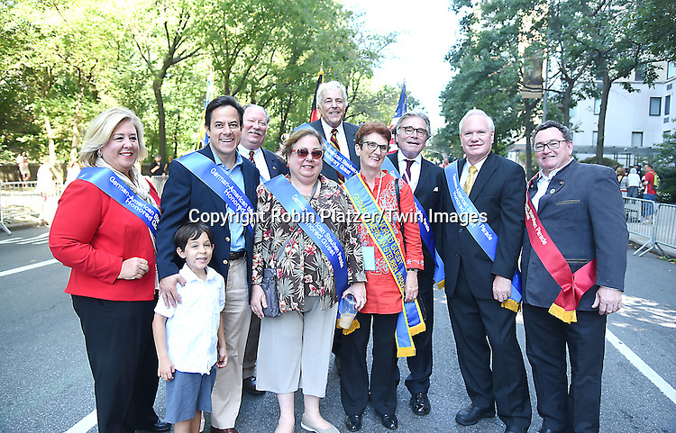 group shot attends the 59th German-American Steuben Parade on September 17, 2016 on Fifth Avenue in New York City, New York, USA. <br /> <br /> photo by Robin Platzer/Twin Images<br />  <br /> phone number 212-935-0770