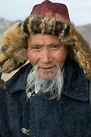 Kazakh men with hunting eagles