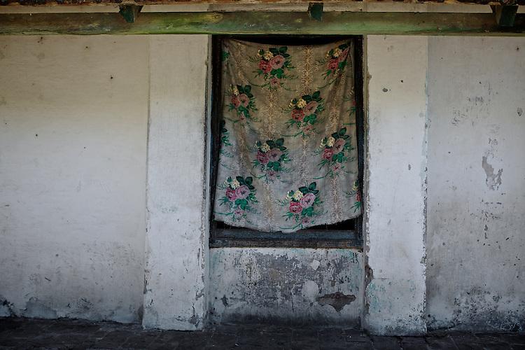 Window from the workers home.  Frigorifico (Slaughterhouse) Anglo, Fray Bentos, Rio Negro, Uruguay.  ..Ventana de una de la casa de los trabajadores.  Frigorifico Anglo, Fray Bentos, Río Negro, Uruguay.