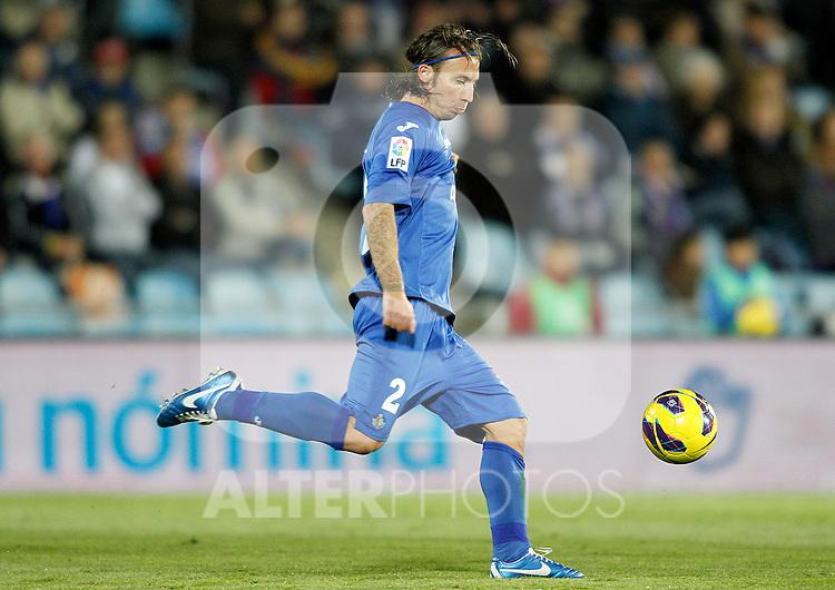 Getafe's Alexis Ruano during La Liga match.November 18,2012. (ALTERPHOTOS/Acero)