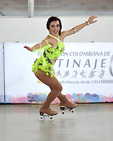 CALI - COLOMBIA - 19 - 09 - 2015: Cassandra Seidel, deportista de Estados Unidos, durante la prueba de Solo Danza Obligatorias Damas Juvenil, en el LX Campeonato Mundial de Patinaje Artistico, en el Velodromo Alcides Nieto Patiño de la ciudad de Cali. / Cassandra Seidel, sportwoman of United States, during the Compulsory Solo Dance Junior Ladies  test, in the LX World Championships  Figure Skating, at the Alcides Nieto Patiño Velodrome in Cali City. Photo: VizzorImage / Luis Ramirez / Staff.