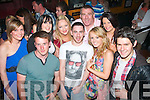 HAPPY BIRTHDAY: Steven Bulman,The Spa,Tralee (centre)celebrated his 22nd birthday last saturday night in Bailey's corner, Tralee, pictured with Steven were Eoin Herilihy, Kelly Taylor, Nick Tyddine, Linda Carmody, Natalie Murphy, Jackie O'Mahony, Tim Landers and Sarah Griffin.
