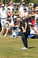 Mike Lorenzo-Vera (FRA) chips into the 5th green during Sunday's Final Round 4 of the 2018 Omega European Masters, held at the Golf Club Crans-Sur-Sierre, Crans Montana, Switzerland. 9th September 2018.<br /> Picture: Eoin Clarke | Golffile<br /> <br /> <br /> All photos usage must carry mandatory copyright credit (&copy; Golffile | Eoin Clarke)