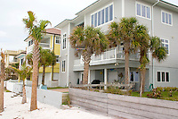 Homes located on Gulf beach.  Clearwater Beach Tampa Bay Area Florida USA
