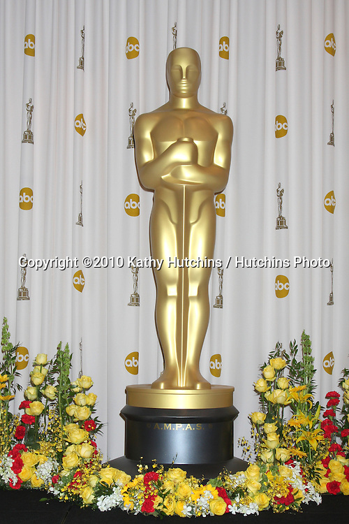 Oscar Statue.in the Press Room of the 82nd Academy Awards.Kodak Theater.Los Angeles, CA.March 7, 2010.©2010 Kathy Hutchins / Hutchins Photo....