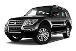 Stock pictures of low aggressive front three quarter view of 2016 Mitsubishi Pajero Instyle 5 Door Suv Low Aggressive