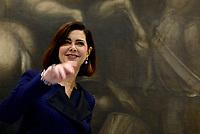 la Presidente della Camera dei deputati, Laura Boldrini incontra la Stampa parlamentare