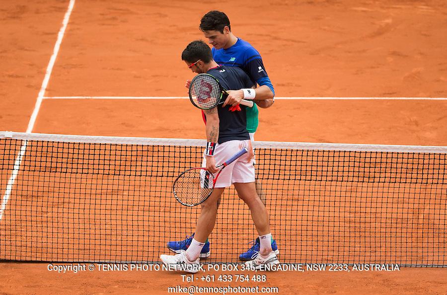 MILOS RAONIC (CAN)<br /> <br /> TENNIS - FRENCH OPEN - ROLAND GARROS - ATP - WTA - ITF - GRAND SLAM - CHAMPIONSHIPS - PARIS - FRANCE - 2016  <br /> <br /> <br /> <br /> &copy; TENNIS PHOTO NETWORK
