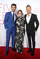 LOS ANGELES, CA - MARCH 7: Justin Baldoni, Cathy Schulman, Brian Tyler, at The Premiere Of Lionsgate's &quot;Five Feet Apart&quot; at The Fox Bruin Theatre in Los Angeles, California on March 7, 2019. <br /> CAP/MPI/SAD<br /> &copy;SAD/MPI/Capital Pictures