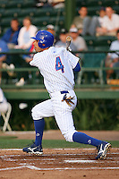 April 16, 2009:  Left Fielder Marwin Gonzalez of the Daytona Cubs, Florida State League Class-A affiliate of the Chicago Cubs, during a game at Jackie Robinson Stadium in Daytona Beach, FL.  Photo by:  Mike Janes/Four Seam Images