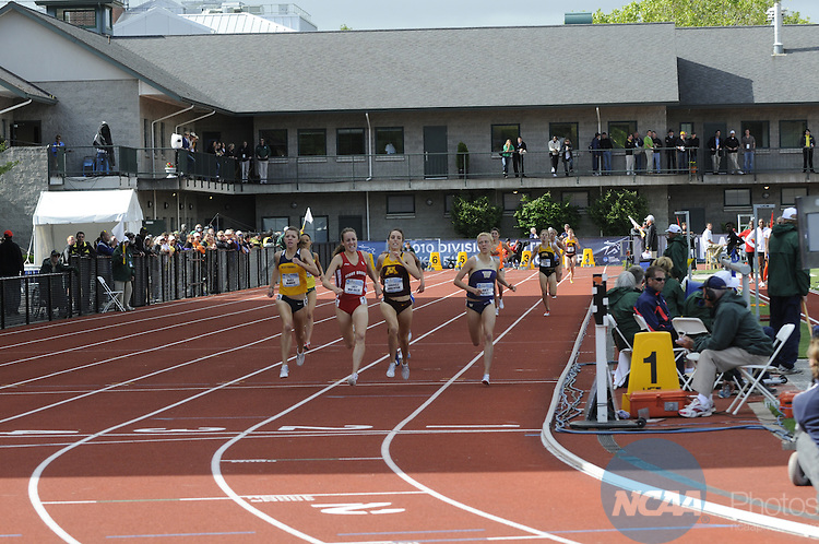 10 JUNE 2010:  Lucy Van Dalen of Stony Brook University leads the pack in the 1,500m run during the Division I Men's and Women's Track and Field Championship held at Hayward Field on the University of Oregon campus in Eugene, OR.  Van Dalen won the race with a time of 4:13:19.  Chris Steppig/NCAA Photos