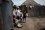 Serer ethnic women in a village near Ndiema, Senegal.