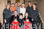 ...BIRTHDAY: Celebrations were in full swing in the Abbey Gate Hotel, Tralee on Friday night as John Doyle celebrated his 32 birthday with his daughter Jennifer who celebrated her 2nd birthday. Front l-r: John Doyle, Jennifer Doyle, Bradley Fontes, Li-Juan Doyle and James Doyle. Back l-r: Kathleen Doyle, Eddie Wang, Engu Wang, Danille Doyle, Richard Fontos and Laura Moore...................   Copyright Kerry's Eye 2008