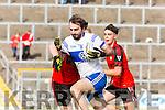 Castleisland Desmonds Kieran Brennan powers through the Kenmare defence during their Intermediate semi final clash in Fitzgerald Stadium on Sunday