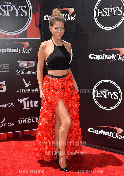 Stephanie Bauer at the 2015 ESPY Awards at the Microsoft Theatre LA Live.<br /> July 15, 2015  Los Angeles, CA<br /> Picture: Paul Smith / Featureflash