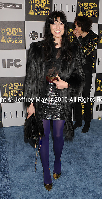LOS ANGELES, CA. - March 05: Director Floria Sigismondi arrives at the 25th Film Independent Spirit Awards held at Nokia Theatre L.A. Live on March 5, 2010 in Los Angeles, California.