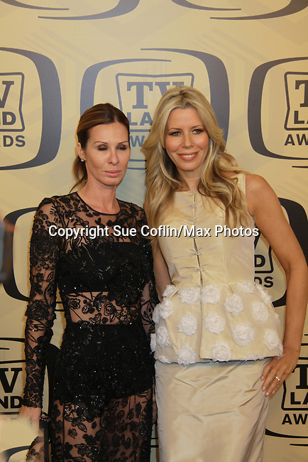 "Fran & Aviva Drescher at the 10th Anniversary of the TV Land Awards on April 14, 2012 to honor shows ""Murphy Brown"", ""Laverne & Shirley"", ""Pee-Wee's Playhouse"", ""In Loving Color"" and ""One Day At A Time"" and Aretha Franklin at the Lexington Armory, New York City, New York. (Photo by Sue Coflin/Max Photos)"