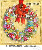 Ingrid, CHRISTMAS SYMBOLS, WEIHNACHTEN SYMBOLE, NAVIDAD SÍMBOLOS, paintings+++++,USISMC13S,#XX# vintage
