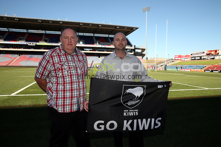 Kiwis warm up with GJ Gardner sponsors<br /> Trans Tasman Test Match Press Conference and NZRL Kiwi Captains Training for the test match at Hunter Stadium, Newcastle Australia. Thursday 5 May 2016. Photo: Paul Seiser / www.photosport.nz