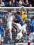 Rangers keeper Neil Alexander punches clear