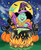Janet, REALISTIC ANIMALS, Halloween, paintings, J. Witches Brew(USJS174,#A#)