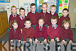 Coolard NS. Miss O'Connell's first day infants. Front: Chloe, Evan, Louise, Cian & Darragh. Back: Georgie, Stephen, Conor, Emma, Matthew & Kevin.
