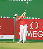 Richie Ramsay (SCO) in action during the first round of the 2013 Omega Dubai Desert Classic being played over the Majlis Golf Course, Emirates Golf Course from 31st January to 3rd February 2013: Picture Stuart Adams www.golftourimages.com/www.golffile.ie:  31st January 2013