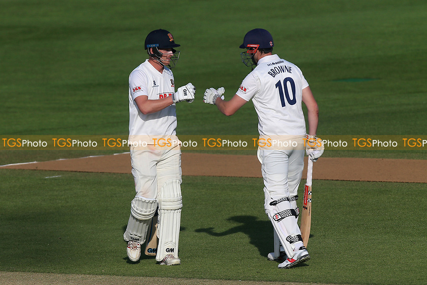 Tom Westley (L) and Nick Browne of Essex during Essex CCC vs Durham MCCU, English MCC University Match Cricket at The Cloudfm County Ground on 3rd April 2017