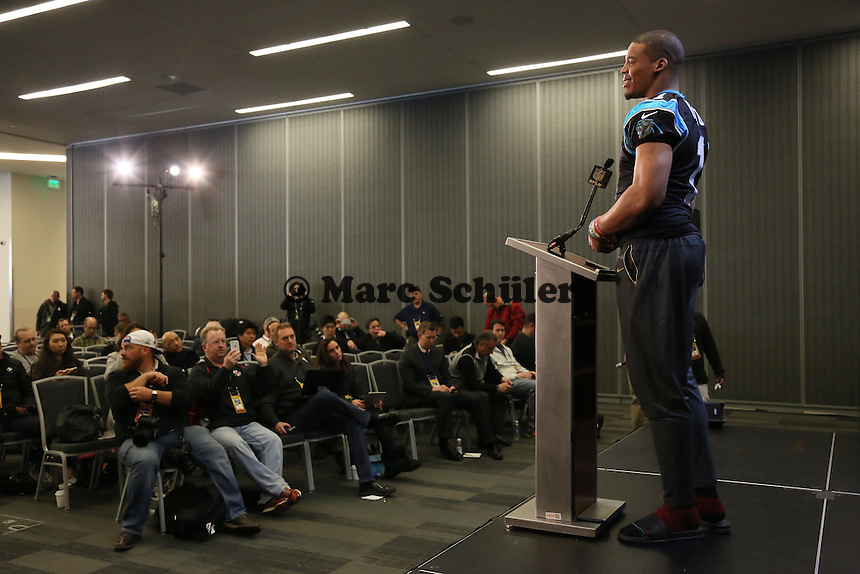 QB Cam Newton (Panthers) - Super Bowl 50 Carolina Panthers PK, Convention Center San Jose