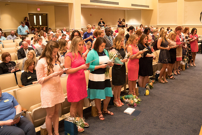 Midway University Pinning Ceremony for Nursing Graduates , Friday May 12, 2017  in Midway, Ky. Photo by Mark Mahan