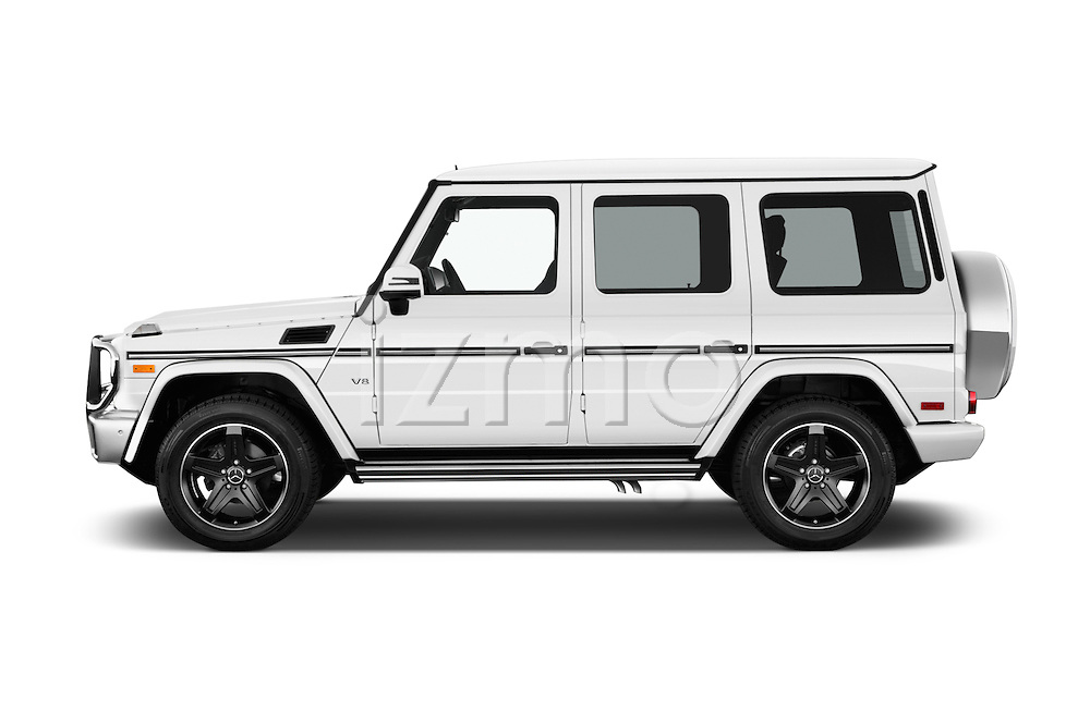 Car Driver side profile view of a 2016 Mercedes Benz G-Class G550 5 Door SUV Side View