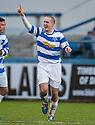 Morton's Michael Tidser celebrates after he scores their goal.