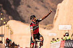 Greg Van Avermaet (BEL) BMC Racing Team wins Stage 3 of the 2018 Tour of Oman running 179.5km from German University of Technology to Wadi Dayqah Dam. 15th February 2018.<br /> Picture: ASO/Muscat Municipality/Kare Dehlie Thorstad | Cyclefile<br /> <br /> <br /> All photos usage must carry mandatory copyright credit (&copy; Cyclefile | ASO/Muscat Municipality/Kare Dehlie Thorstad)