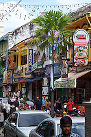 Malaysia, Penang. Old Georgetown Streets - a UNESCO World Heritage site. Little India.