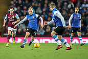 4th November 2017, Villa Park, Birmingham, England; EFL Championship football, Aston Villa versus Sheffield Wednesday; Barry Bannan of Sheffield Wednesday brings the ball forward