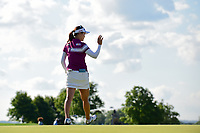 So Yeon Ryu (KOR) after sinking her birdie putt on 15 during Sunday's final round of the 72nd U.S. Women's Open Championship, at Trump National Golf Club, Bedminster, New Jersey. 7/16/2017.<br /> Picture: Golffile | Ken Murray<br /> <br /> <br /> All photo usage must carry mandatory copyright credit (&copy; Golffile | Ken Murray)