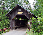 Gold Brook Bridge, also known as Emily's Bridge, located in Stowe, Vermont. The bridge is reputed to be haunted by the ghost of a young woman named Emily who supposedly committed suicide on this bridge in the mid-1800's.