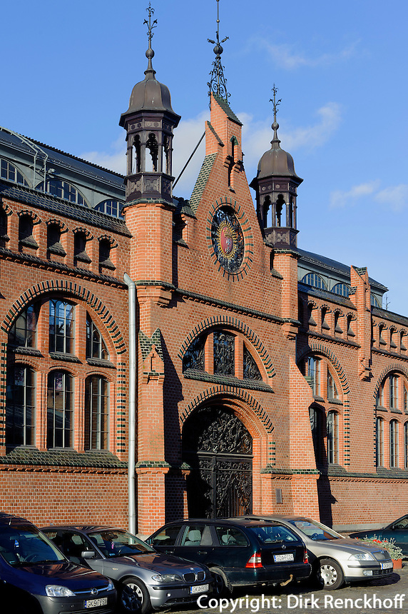 Markthalle (Hala Targowa) in Danzig (Gdansk), Woiwodschaft Pommern (Wojew&oacute;dztwo pomorskie), Polen, Europa<br /> Covered market in Gdansk, Poland, Europe