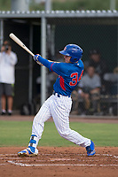 AZL Cubs 2 center fielder Cole Roederer (34) at bat during an Arizona League game against the AZL White Sox at Sloan Park on July 13, 2018 in Mesa, Arizona. The AZL Cubs 2 defeated the AZL White Sox 6-4. (Zachary Lucy/Four Seam Images)