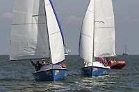 20th SPA Regatta - Medemblik.26-30 May 2004..Copyright free image for editorial use. Please credit Peter Bentley..Sponsors' racing