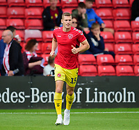 Fleetwood Town's Paul Coutts during the pre-match warm-up<br /> <br /> Photographer Andrew Vaughan/CameraSport<br /> <br /> The EFL Sky Bet League One - Lincoln City v Fleetwood Town - Saturday 31st August 2019 - Sincil Bank - Lincoln<br /> <br /> World Copyright © 2019 CameraSport. All rights reserved. 43 Linden Ave. Countesthorpe. Leicester. England. LE8 5PG - Tel: +44 (0) 116 277 4147 - admin@camerasport.com - www.camerasport.com