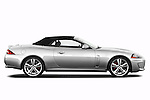 Passenger side profile view of a 2011 Jaguar XKR Convertible
