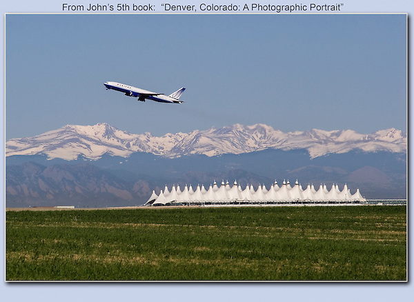 Taking flight at Denver International Airport, Colorado.<br />