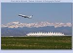 Taking flight at Denver International Airport, Colorado.<br /> No Photoshop here.