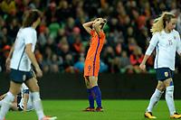 GRONINGEN -  Voetbal, Nederland - Noorwegen, Noordlease stadion, WK kwalificatie vrouwen, 24-10-2017,    Nederland speelster Vivianne Miedema na gemiste kans